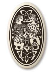 Celtic Divine Couple Oval Pendant