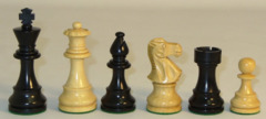 Chess Pieces 3.75 Lardy Black 37BLC