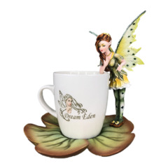 12937 - Red Tea Cup Fairy /w Flower