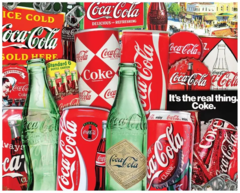 1000pc Coca-Cola Then & Now Vintage Soda Cans