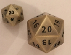 35mm Giant Antique Gold D20