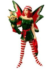 Amy Brown's Chrismas Stocking Fairy Diva (Hanging)