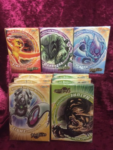 Kaijudo CCG Set of 5 Sealed Decks: Fire, Water, Nature, Light, Dark