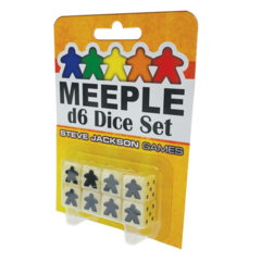 Meeple d6 Dice - White
