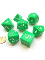 Jumbo 7-Piece Dice Set - Green