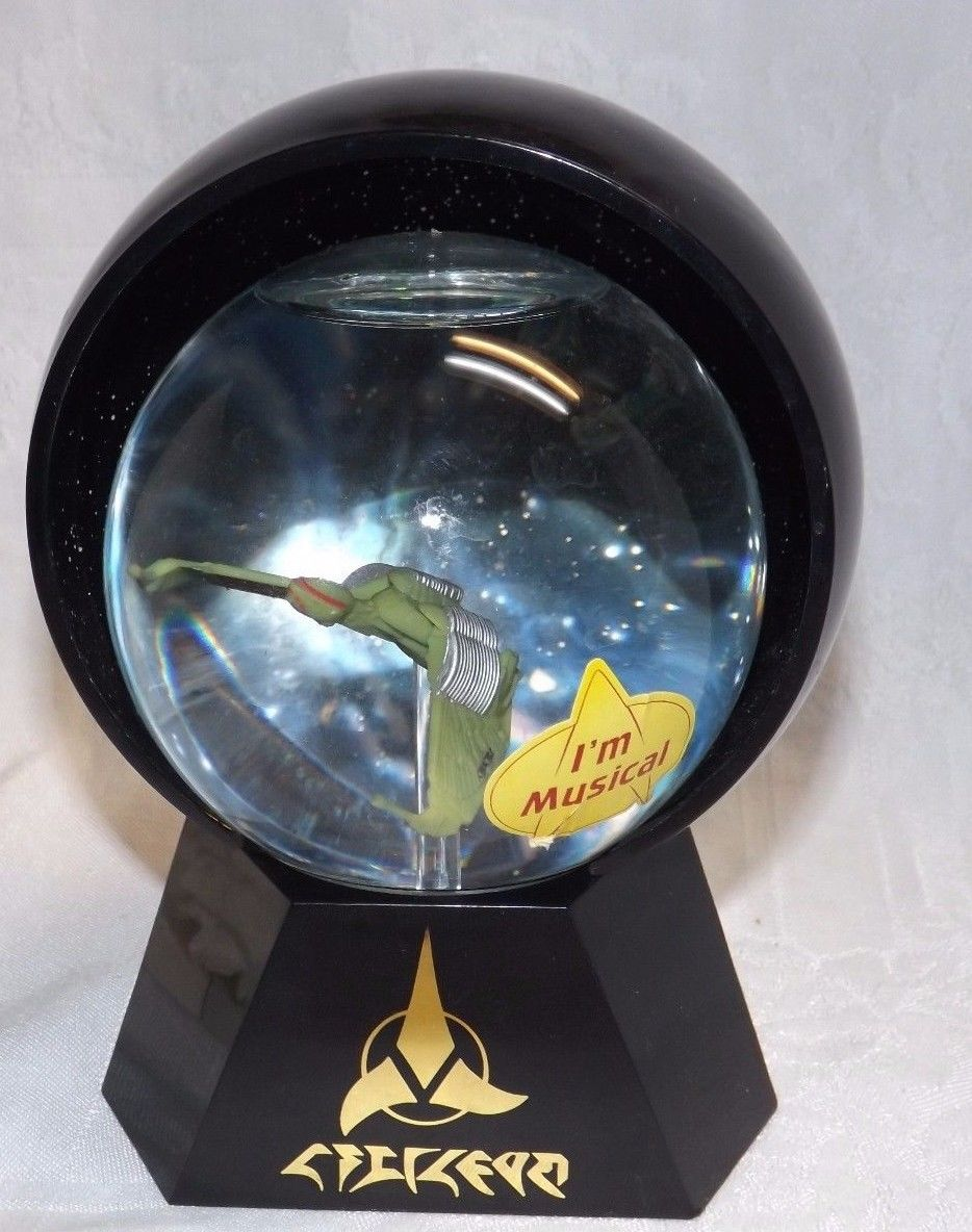 Star Trek Klingon Bird-of-Prey Lighted Musical Globe (Next Gen)