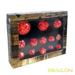 Bescon Complete Dice Set - Red