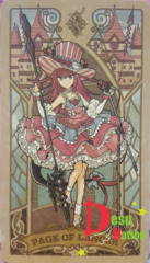 Fate/Grand Order Tarot Card - Page of Lancer: Elizabeth Bathory