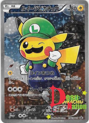 Luigi Pikachu (Japanese) 296/XY-P - Full Art Promo