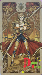 Fate/Grand Order Tarot Card - Knight of Archer: Gilgamesh