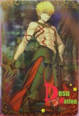 FGO Plastic Trading Card No.SR22 Gilgamesh