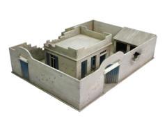 Damaged North Afrika Compound and House