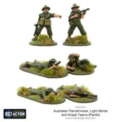 Australian Flamethrower, Light Mortar and Sniper Team