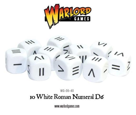 10 White Roman Numeral D6