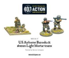 US Airborne Bazooka & 60mm light mortar team