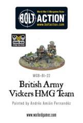 British Army Vickers HMG Team