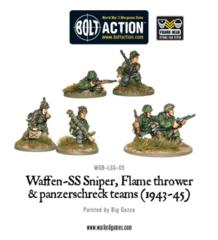 Waffen-SS Sniper, Flamethrower and Panzerschreck teams