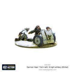 German Heer 7.5cm leIG 18 light artillery (Winter)