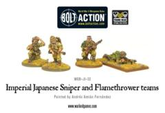 Imperial Japanese Sniper and Flamethrower teams