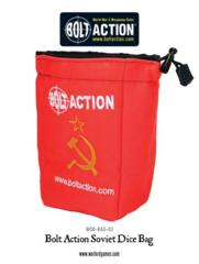 Bolt Action Soviet Dice Bag and Order Dice (Red)