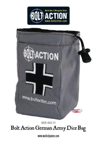 Bolt Action German Dice Bag and Order Dice (Grey)