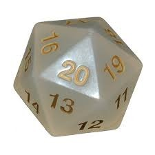 D20 Countdown 55mm Gold/White