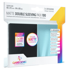 Gamegenic - Matte Double Sleeving Pack - Black