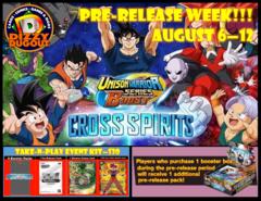 @Home Prerelease: Dragon Ball Unison Warrior - Cross Spirits - Pre-release Kit (Single Player)