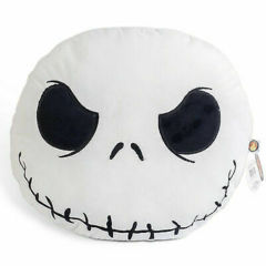 The Nightmare Before Christmas Jack Head Large Plush Throw Pillow (19 In Oval) Vintage Sealed in Bag w Tags