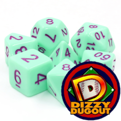 Dizzy HD Dice Set: Mint Rose