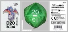 Ultra Pro Jumbo D20 Novelty Plush Die Green