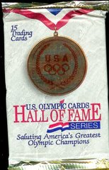 US Olympic Cards Hall of Fame Series Unopened Pack (15 cards per pack) (1991))