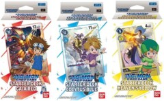 Digimon Card Game: ST-1-3 Starter Deck SET of 3