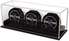 Acrylic Puck Holder - Triple Puck Display