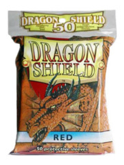 Dragon Shield Red Protective Standard Card Sleeves (50 ct)