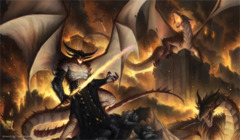 Artists of Magic Play Mat 14 DRAGONLORD SINN w/Artwork by Tyler Walpole
