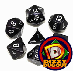 Dizzy HD Dice Set: Opaque Black