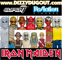 Iron Maiden ReAction Figure Set - Wave 1 & 2 (11 Figures)