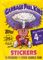 Garbage Pail Kids Topps: 4th Series Trading Card Sticker Pack (1986)