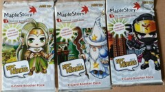 Maple Story i Trading Card Game: Set 4 NPC Heroes - 9 Card Booster Pack - 3 Pack Art Set