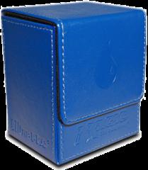 Magic the Gathering Mana Flip Box Ultra-Pro Blue Embossed Leatherette Island Logo Deck Box