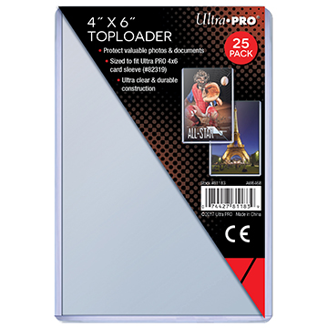 4 X 6 Toploader 25ct - Ultra Pro