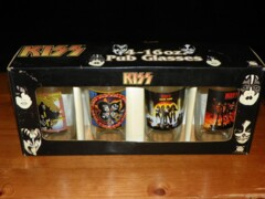 Kiss -  Pub Glasses Set - 4-16oz. Glasses