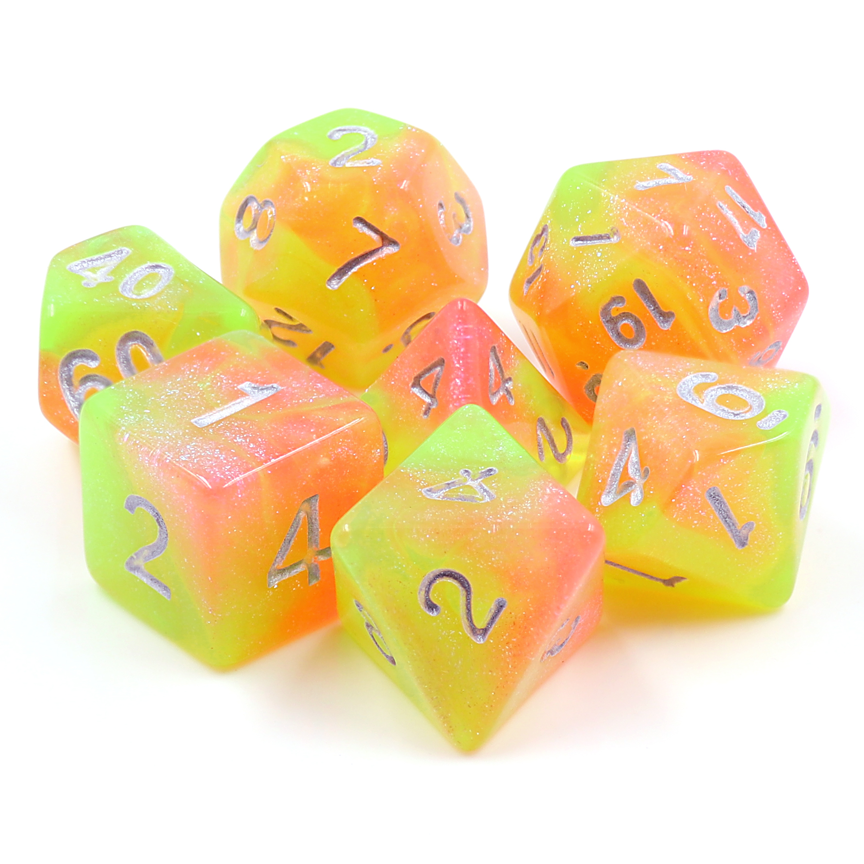 Summers Joy Dizzy HD Polyhedral 7 Dice Set