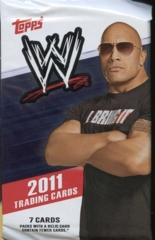 WWE 2011 TOPPS WRESTLING TRADING CARD RETAIL PACK