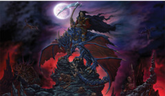 Artists of Magic Play Mat 15 DRAGON-REAPER w/Artwork by Ed Beard Jr.