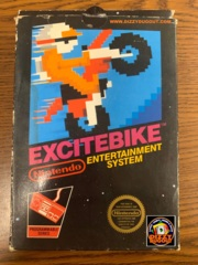 "Excitebike - NES 1985/86 ""Matte Sticker Seal!"" Black Box! & Test Market Game Pack"
