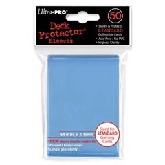 Ultra-Pro Solid Standard Size Deck Protector Sleeves Light Blue (50 ct)
