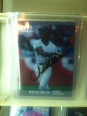 WIllie McGee Autographed Card U118