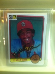 WIllie McGee Autographed Rookie Card 190